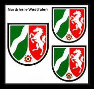 NRW-Aufkleber-Bogen Landeswappen (weiß)
