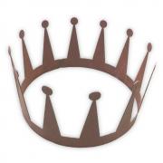 Krone Deko Groß Cortenstahl
