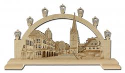 Lichterbogen 'Menden - Altes Rathaus mit Vincenzkirche'