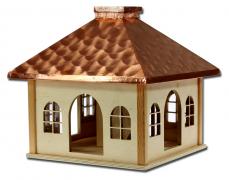 Futterhaus mit Kupferdach natur