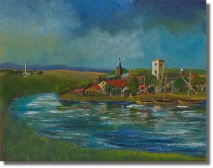 Fischerdorf am Fluss