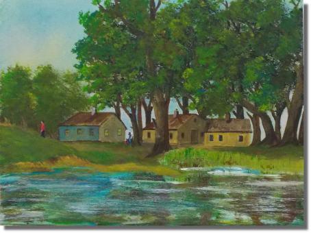 Gehöft am Teich