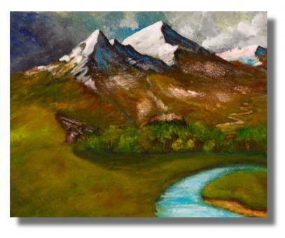Fluss und die Berge