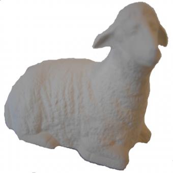 Krippenfigur Schaf liegend rechts, als Rohling
