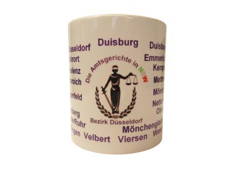 """Justizkaffeetasse """"Amtsgerichte NRW"""" Bezirk Düsseldorf"""