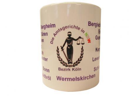 "Justizkaffeetasse ""Amtsgerichte NRW"" Bezirk Köln"