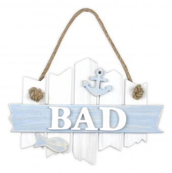 vintage Türschild 'BAD'