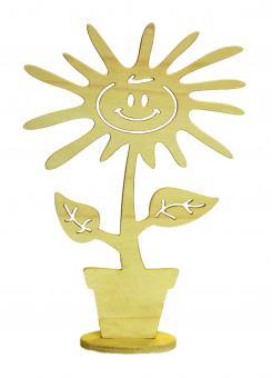 Holz-Sonnenblume