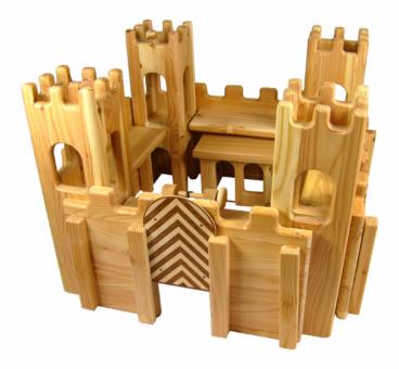 Holzspielzeug - Ritterburg