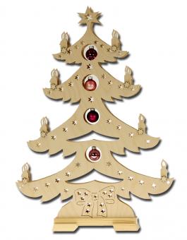 Lichterbogen 'Weihnachtsbaum mit Kugeln'