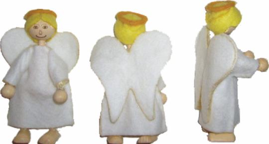 Krippenfigurenset ' Engel, Kameltreiber, Kamel'