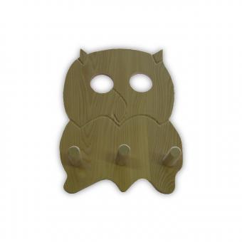 Eulengarderobe aus Holz