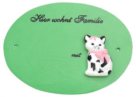 "Türschild ""Katzenfamilie"""