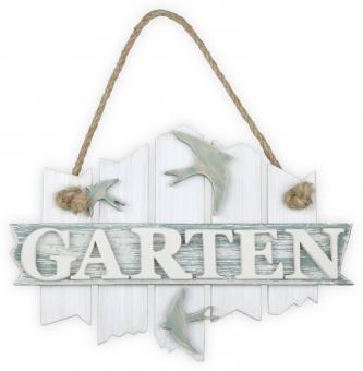 vintage Türschild 'GARTEN'