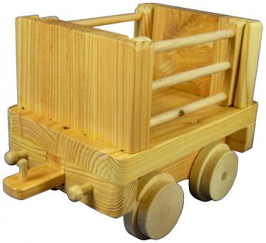 Holzspielzeug Gittergüterwagen