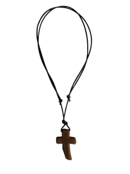 Halskette mit schrägem Kreuzanhänger