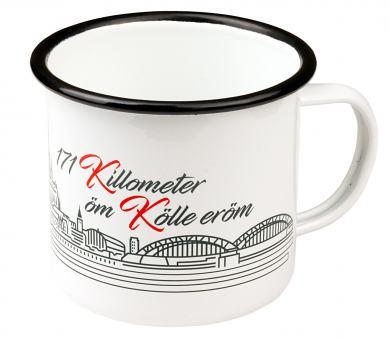 Emailletasse 'Kölnpfad' 480ml