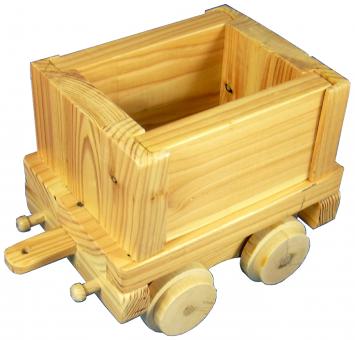 Holzspielzeug Kastengüterwagen