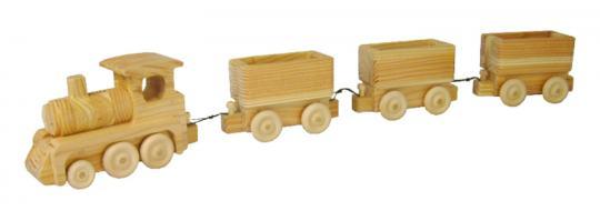 Holzspielzeug - kleiner Zug