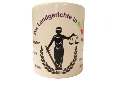 """Justizkaffeetasse """"Landgerichte NRW"""""""