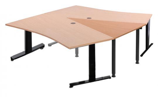 Dreieckplatte für Kombination mit Freiformtisch