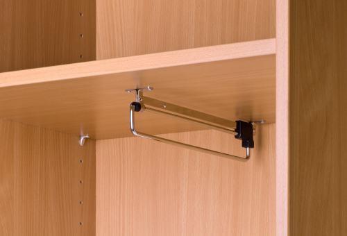 Hutboden mit Garderobenhalter (Zirella) für Schrankkorpus 1200 mm