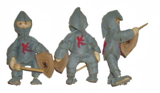 Ritterfiguren rot