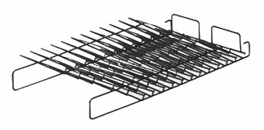Schrägablage flach, 12 Fächer (3HE)