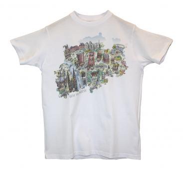 T-Shirt mit NRW-Sehenswürdigkeiten