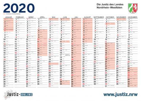 Kalender 2020 - Jahreswandkalender