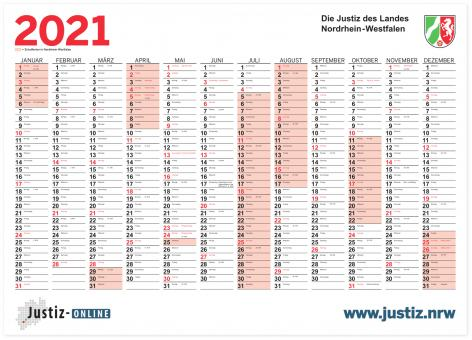 Kalender 2021 - Jahreswandkalender