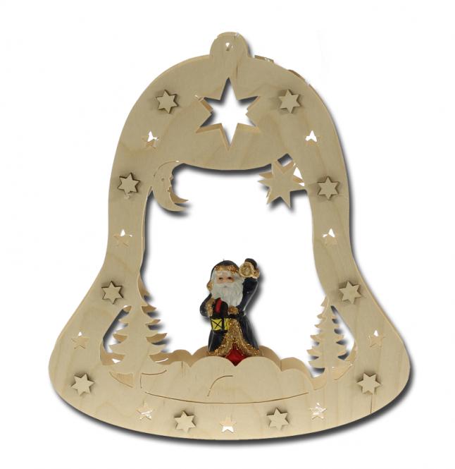 Fensterbild Glocke mit Dekoration