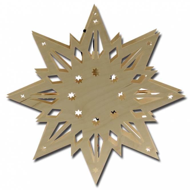 Fensterbild Stern ohne Dekoration