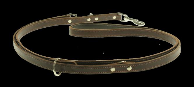 Führleine verstellbar aus Leder - normal -
