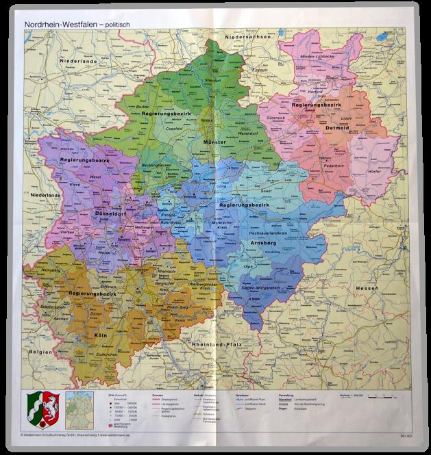 NRW-Handkarte