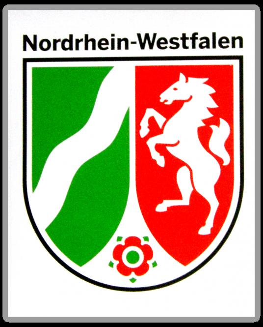 NRW-Aufkleber Landeswappen (weiß)
