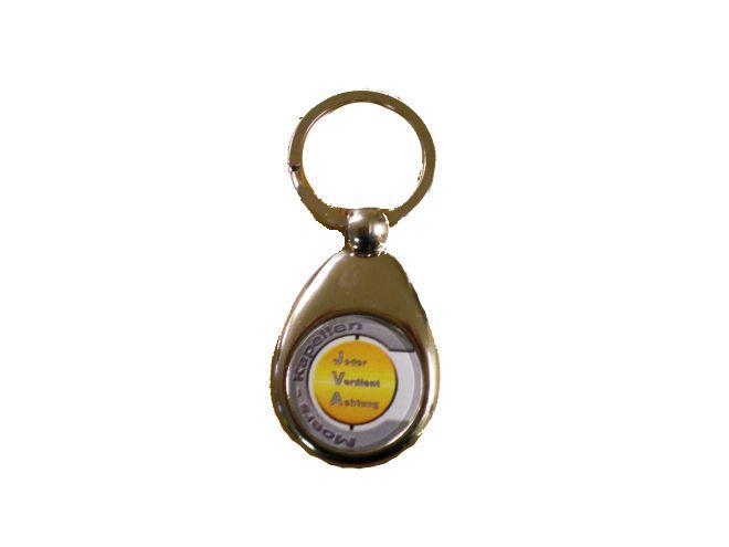 Schlüsselanhänger mit dem Logo der JVA Moers-Kapellen
