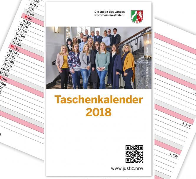 Taschenkalender mit verschiedenen Info-Seiten