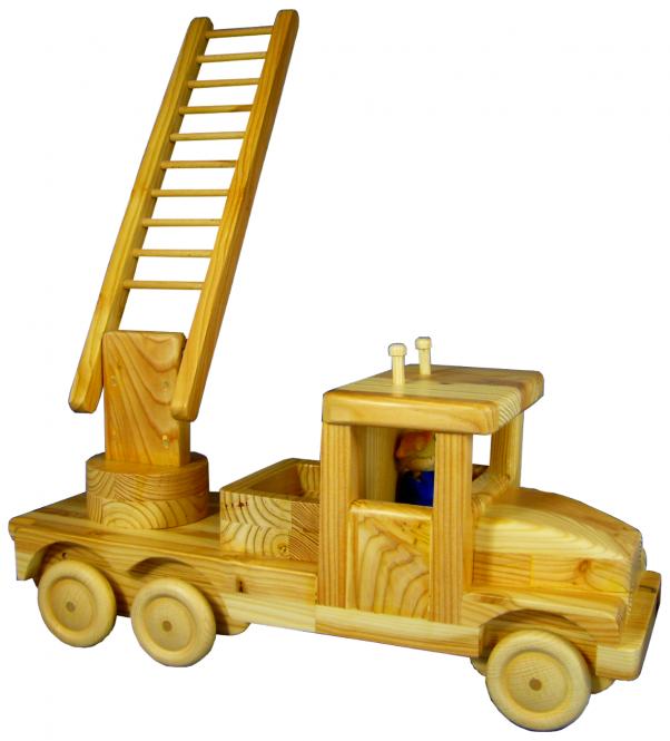 www.knastladen.de | Holzspielzeug Lkw - Leiterwagen