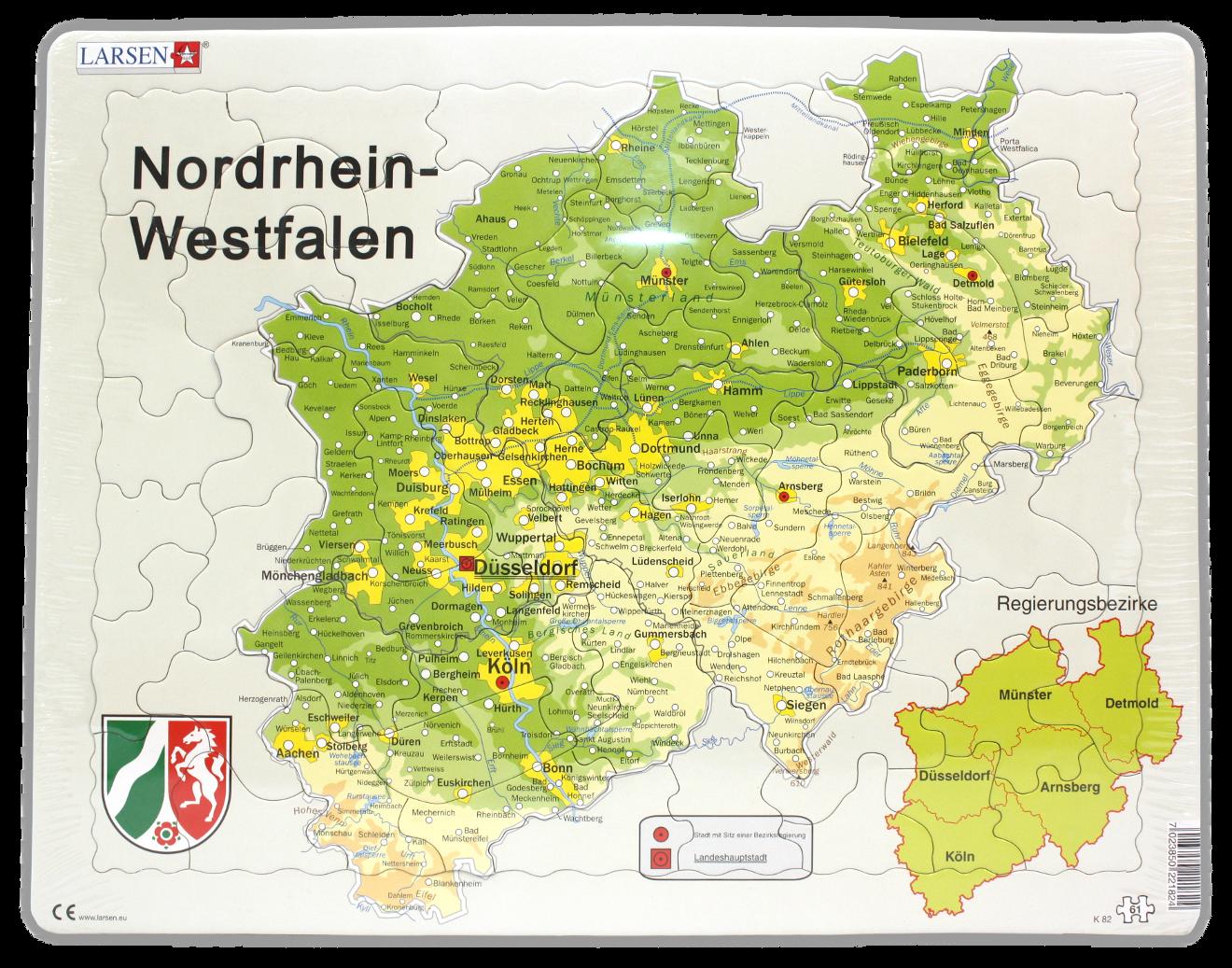 Nordrhein Westfalen Karte.Nrw Puzzle